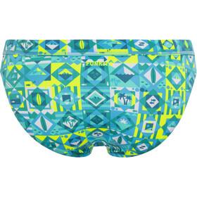 Funkita Sports Brief Donna, blu/giallo